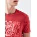 Mavi Jeans Logo Baskılı Erkek Kırmızı Tişört