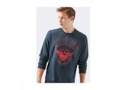 Baskılı Erkek Lacivert Sweatshirt (066426-32184)