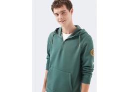 Mühür Logo Detaylı Erkek Yeşil Sweatshirt (066494-32958)