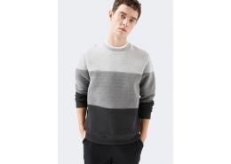 Blok Renkli Erkek Gri Sweatshirt (066504-32175)