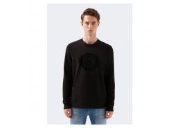 Mavi Baskılı Erkek Siyah Sweatshirt (066521-900)