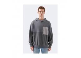 Logo Baskılı Black Pro Gri Sweatshirt (066647-32167)