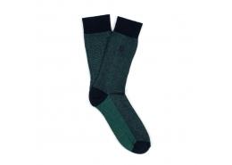 Logo Baskılı Erkek Okyanus Yeşili Soket Çorap