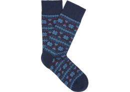 Desenli Lacivert Soket Çorap (090848-26828)