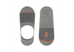 Mavi Unisex Çizgili Gri Babet Çorap