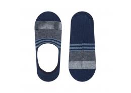Mavi Jeans Çizgili Lacivert Babet Çorap
