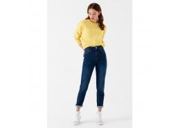 Cindy Gold Icon Kadın Mavi Jean Pantolon