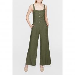 Mavi Jeans Kadın Askılı Yosun Yeşili Tulum