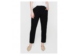 Beli Lastikli Kadın Siyah Pantolon (100954-900)