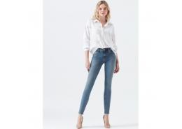 Adriana Ankle Kadın Mavi Kot Pantolon