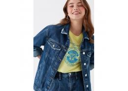 Karla Gold Icon Kadın Koyu Jean Ceket
