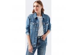 Karla Gold Icon Mavi Kadın Kot Ceket