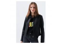 Suni Deri Kadın Siyah Ceket (110461-900)