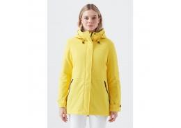 Kapüşonlu Kadın Sarı Mont (110674-32206)