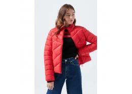 Mavi Jeans Kadın Kırmızı Şişme Mont