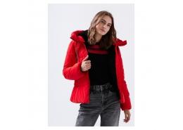 Mavi Jeans Kapüşonlu Kadın Kırmızı Şişme Mont