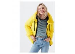 Mavi Jeans Kapüşonlu Kadın Sarı Şişme Mont