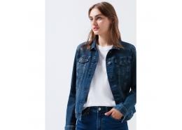 Daisy Vintage Kadın Jean Ceket