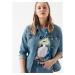 Daisy Vintage Açık Mavi Kadın Jean Ceket