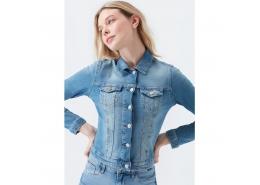 Daphne Vintage Kadın Jean Ceket