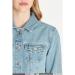 Daphne Açık Mavi Kadın Jean Ceket
