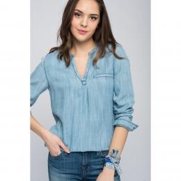 Uzun Kollu Kadın Mavi Bluz (121697-10242)