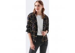 Mavi Jeans Kapüşonlu Kadın Siyah Gömlek