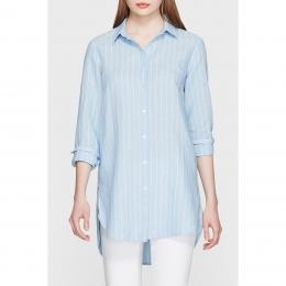 Uzun Kadın Mavi Gömlek (121986-28793)