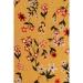 Çiçek Desenli Hardal Kadın Elbise