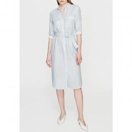 Cep Detaylı Kadın Açık Mavi Elbise