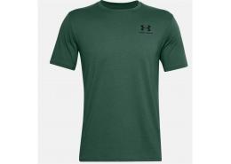 Sportstyle Left Chest Erkek Yeşil Tişört