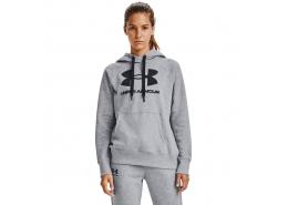 Rival Fleece Logo Kadın Gri Sweatshirt