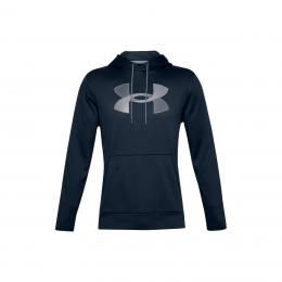 Ua Rival Fleece Big Logo Hd Erkek Lacivert Sweatshirt