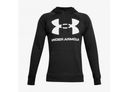 Ua Rival Fleece Big Logo Hd Erkek Siyah Sweatshirt (1357093-001)