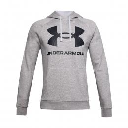 Ua Rival Fleece Big Logo Hd Erkek Gri Sweatshirt