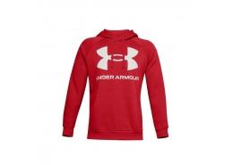 Ua Rival Fleece Big Logo Erkek Kırmızı Sweatshirt