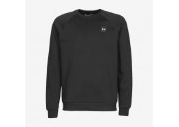 Ua Rival Fleece Crew Erkek Siyah Sweatshirt