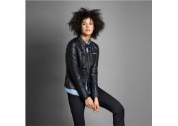 Onlbandit Faux Leather Kadın Siyah Biker Ceket