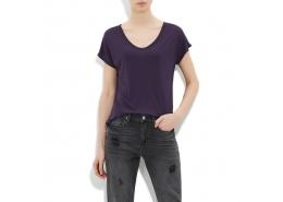 Mavi Jeans Kadın Mor Viskoz Tişört