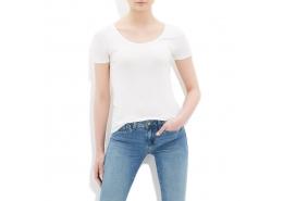 Mavi Kadın Düz Beyaz Basic Tişört