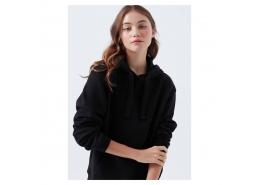 Kapüşonlu Kadın Siyah Sweatshirt (167299-900)