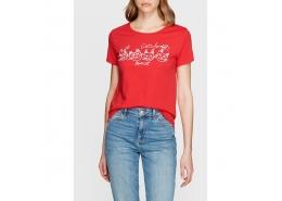 Cats For All Baskılı Kırmızı Tişört (167725-24426)