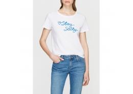 Stay Salty İşlemeli Kadın Beyaz Tişört