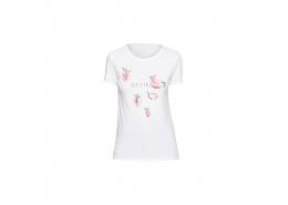 Çilek Baskılı Kadın Beyaz Tişört (167900-620)