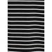 Yaka Detaylı Çizgili Kadın Siyah Sweatshirt