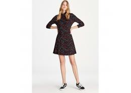 Çiçek Baskılı Renkli Kadın Elbise