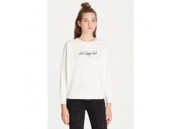 İşlemeli Kadın Kadife Sweatshirt (168350-28945)
