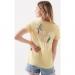 Palmiye Baskılı Kadın Sarı Tişört