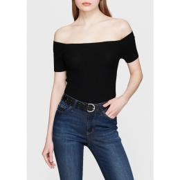 Mavi Jeans Düşük Omuz Kadın Siyah Triko