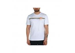 Solar Treeline Graphic Erkek Beyaz Tişört (CS0130_100)